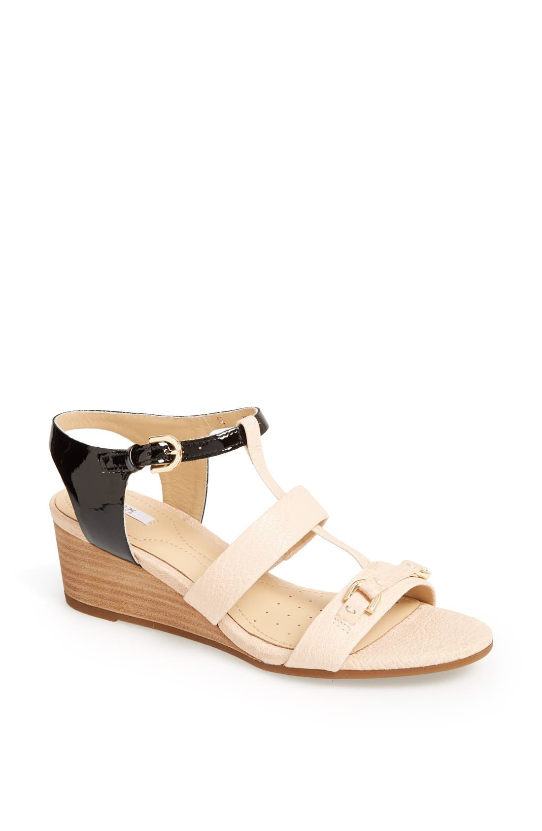 Alternate Image 1 Selected - Geox 'Lupe' Leather Sandal