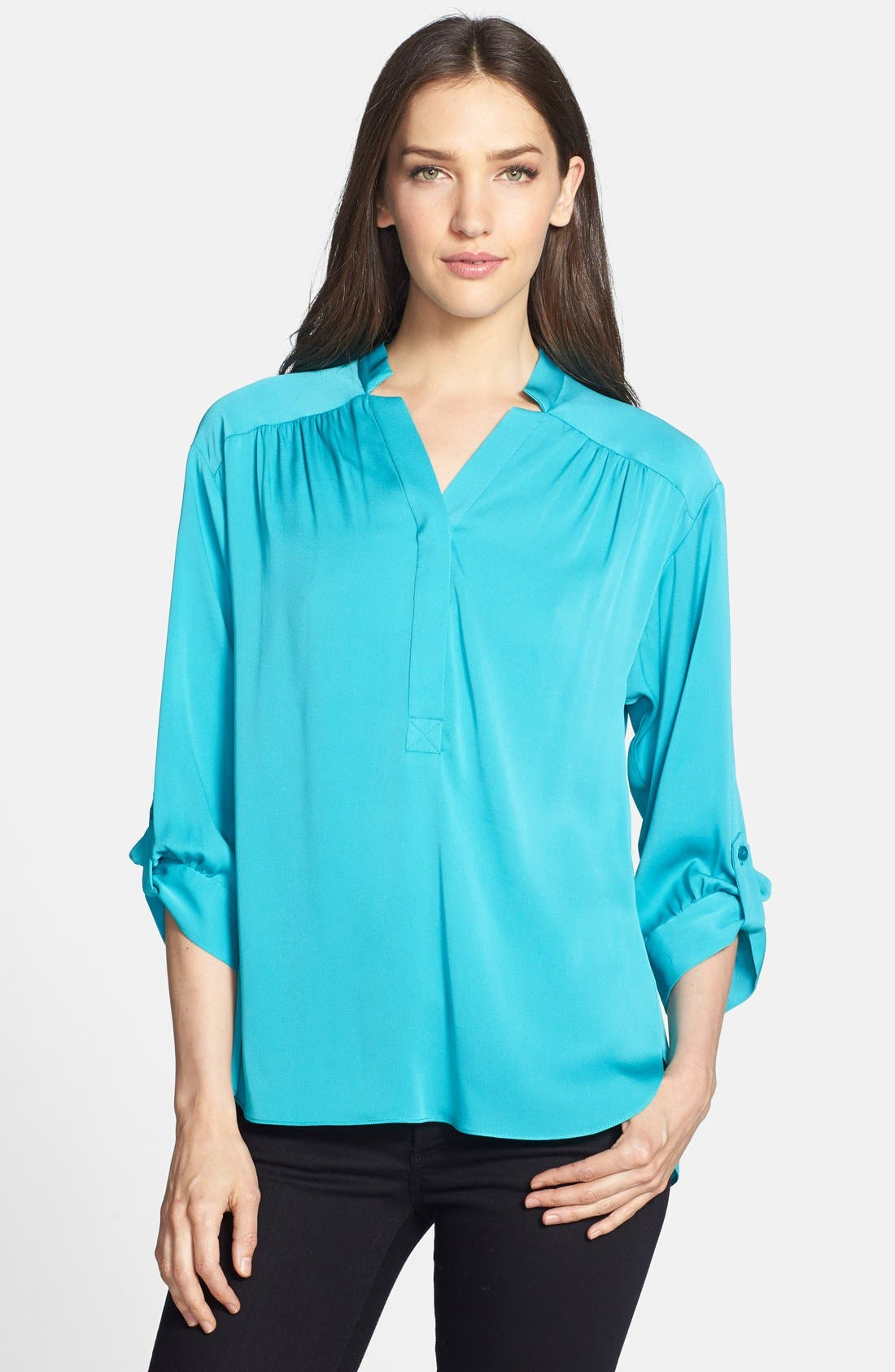 Alternate Image 1 Selected - Milly 'Kataline' Stretch Silk Blouse