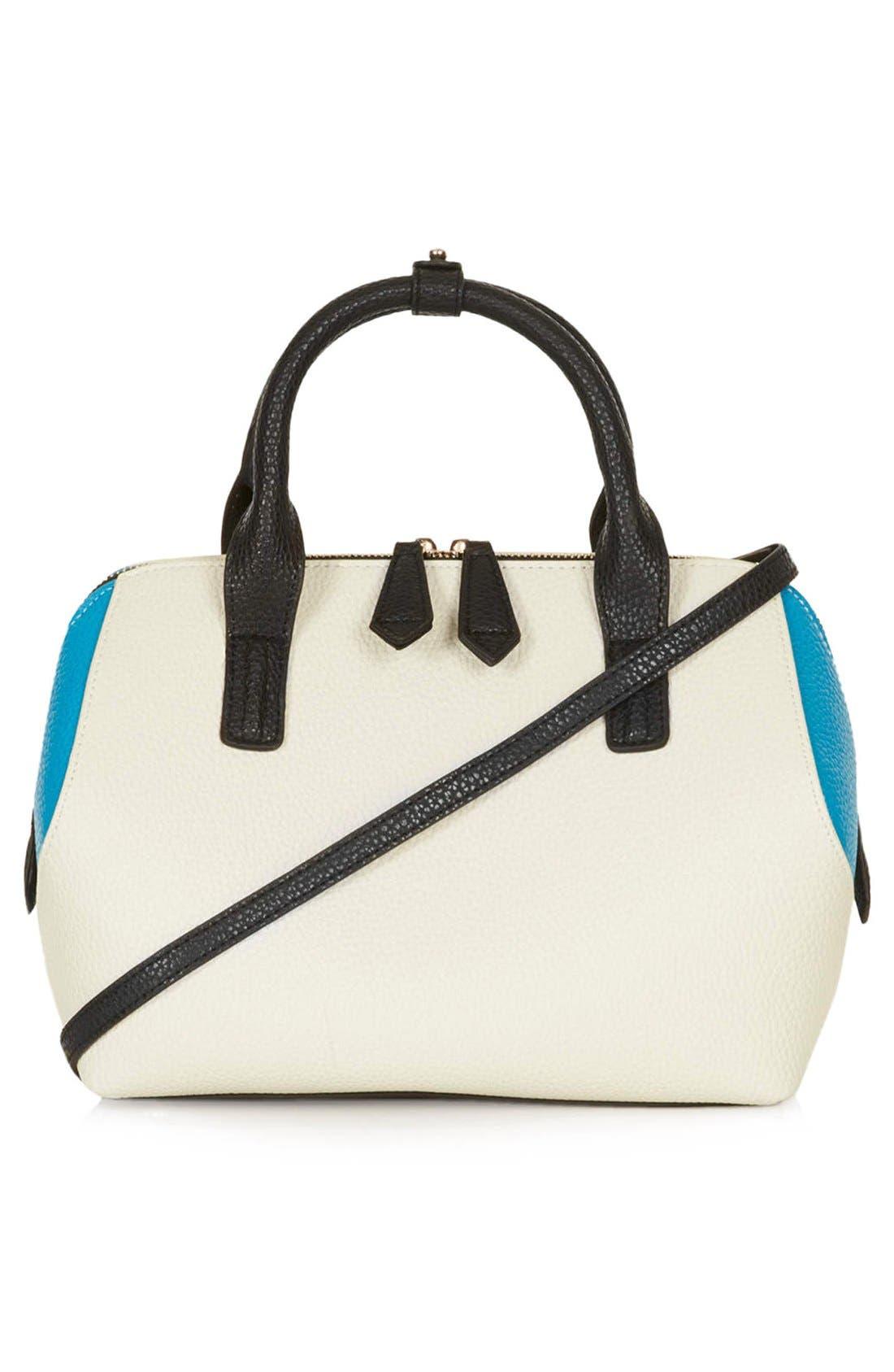Main Image - Topshop Colorblock Mini Holdall Bag