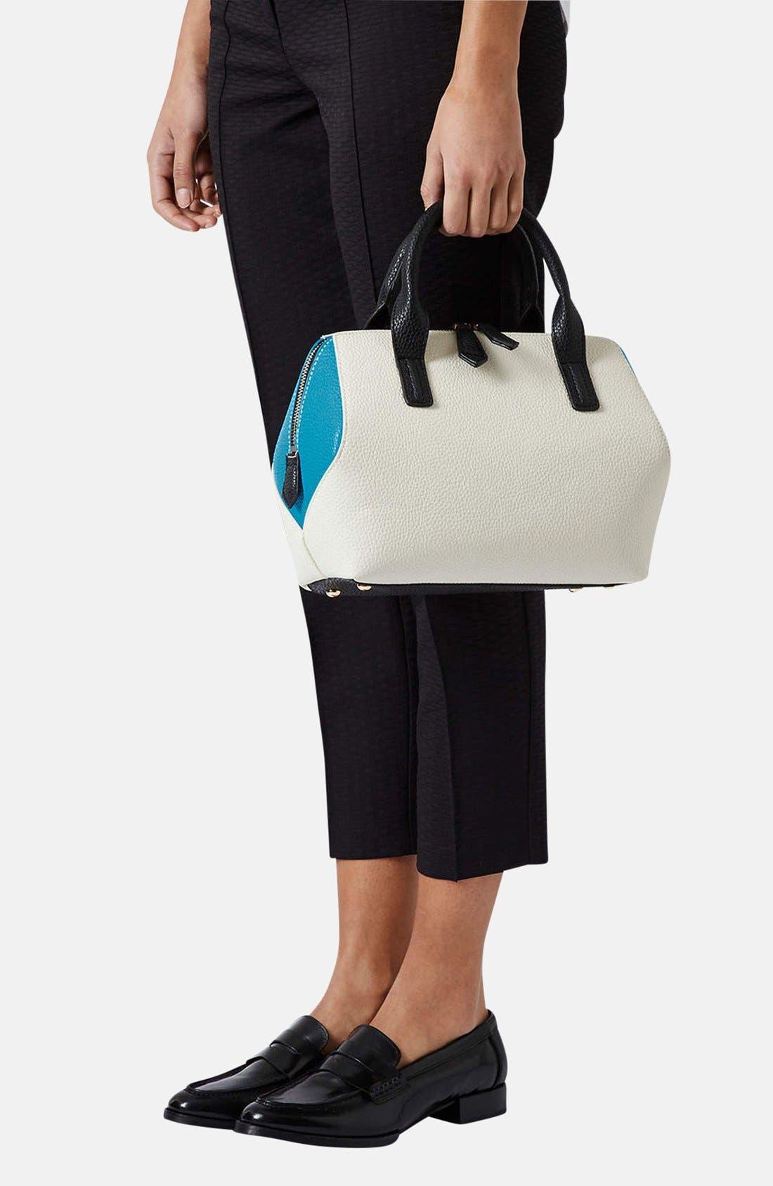 Alternate Image 2  - Topshop Colorblock Mini Holdall Bag
