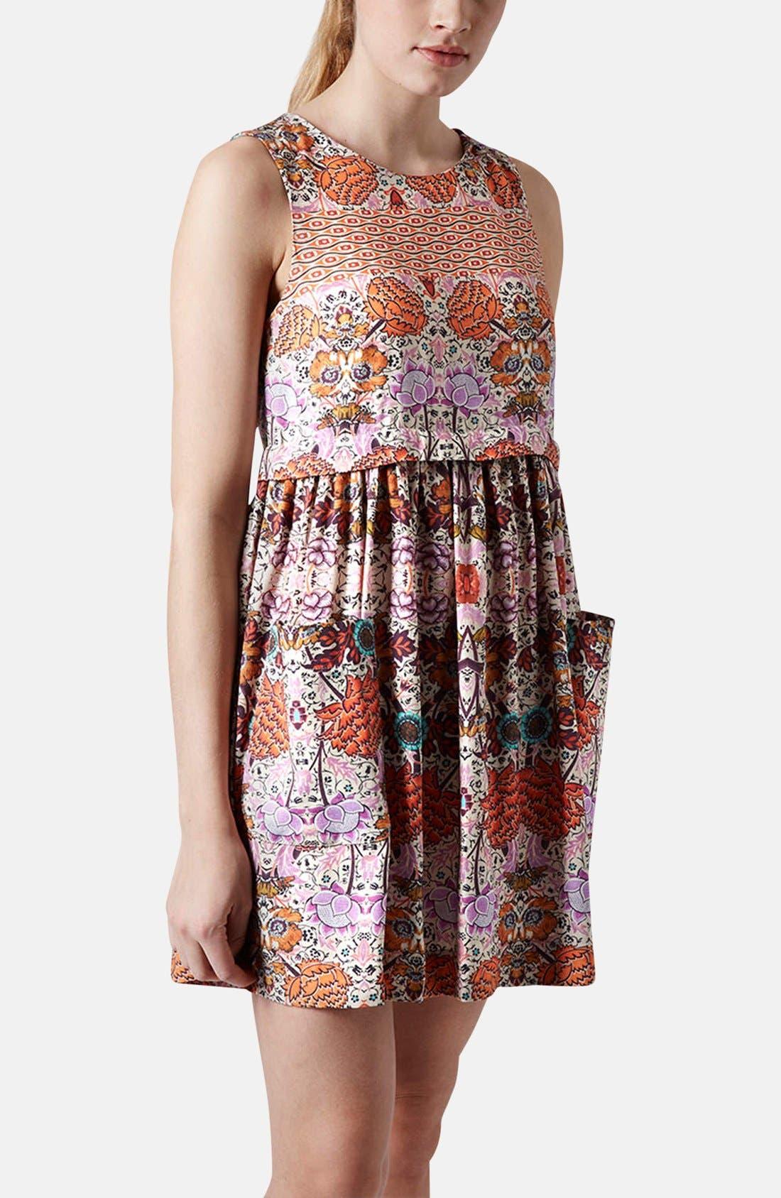 Alternate Image 1 Selected - Topshop 'Folklore' Print Shift Dress