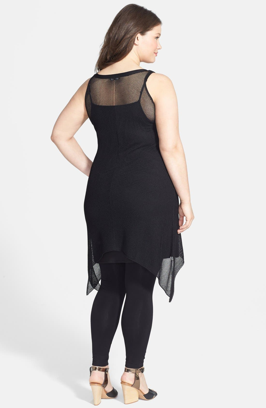Alternate Image 2  - Eileen Fisher Scoop Neck Layering Dress (Plus Size)
