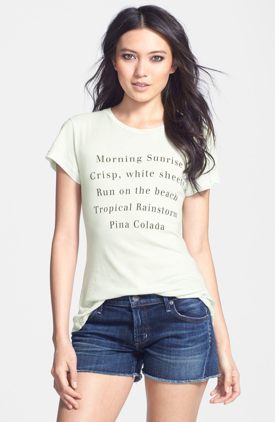 Alternate Image 1 Selected - Wildfox 'Island List' Graphic Print Cotton Tee