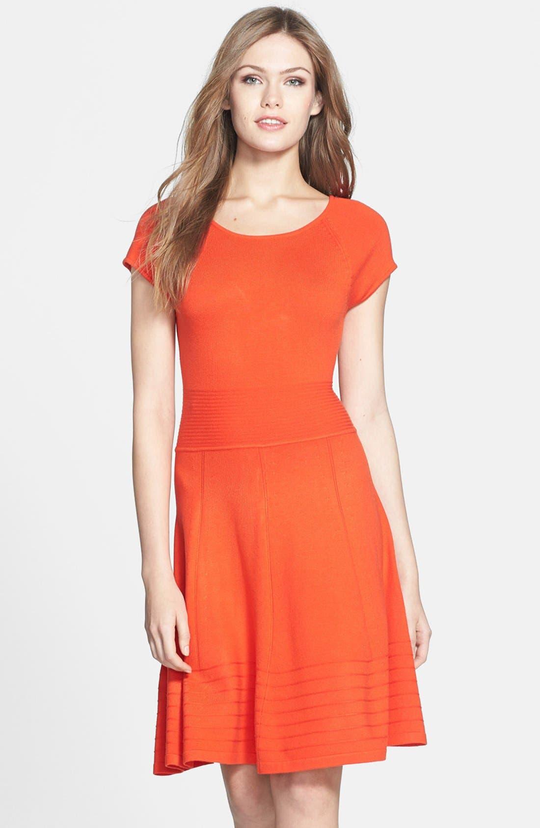Alternate Image 1 Selected - Eliza J Fit & Flare Sweater Dress