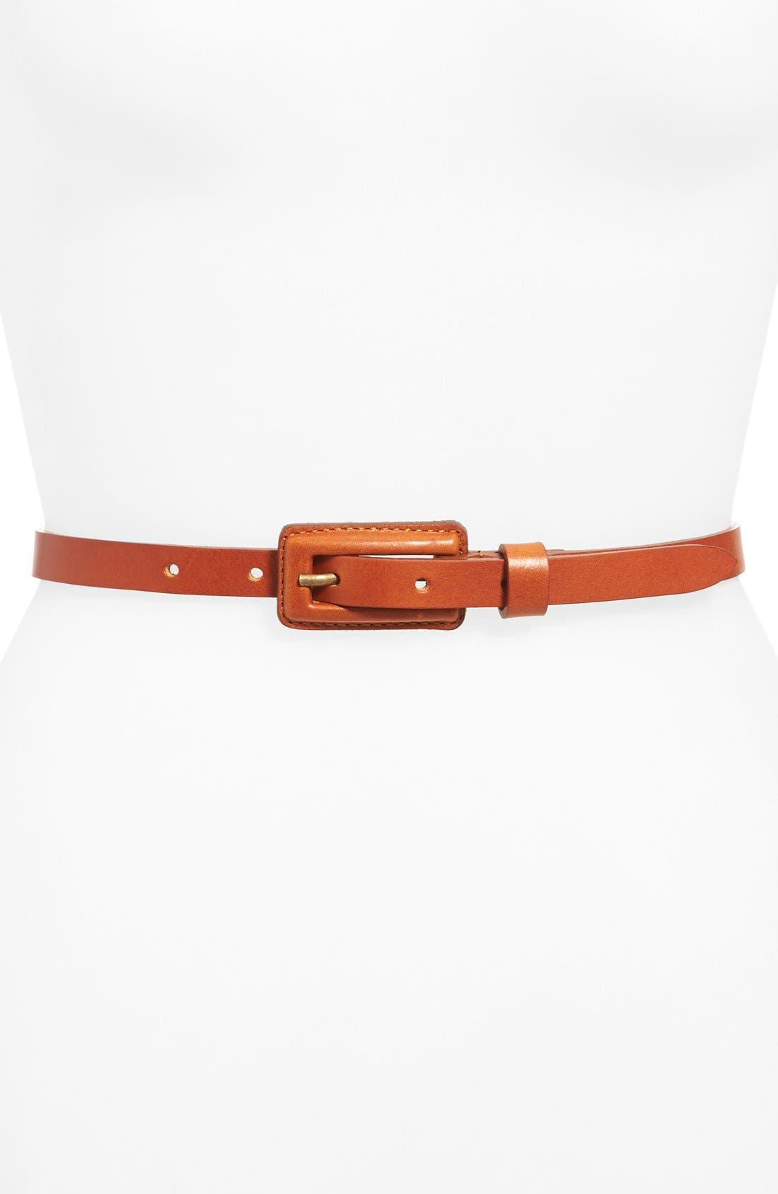 Alternate Image 2  - Lafayette 148 New York Leather Obi with Detachable Skinny Belt