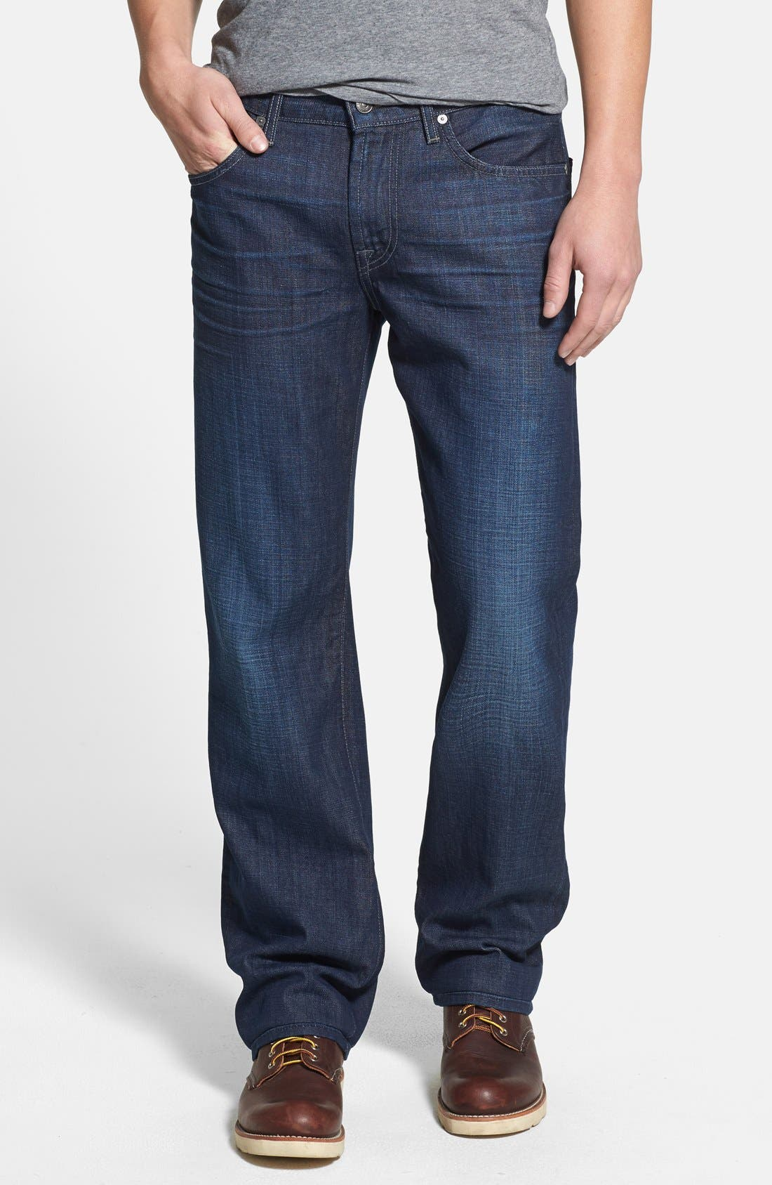 Alternate Image 1 Selected - 7 For All Mankind® 'Austyn' Relaxed Straight Leg Jeans (Sunlit Waters)