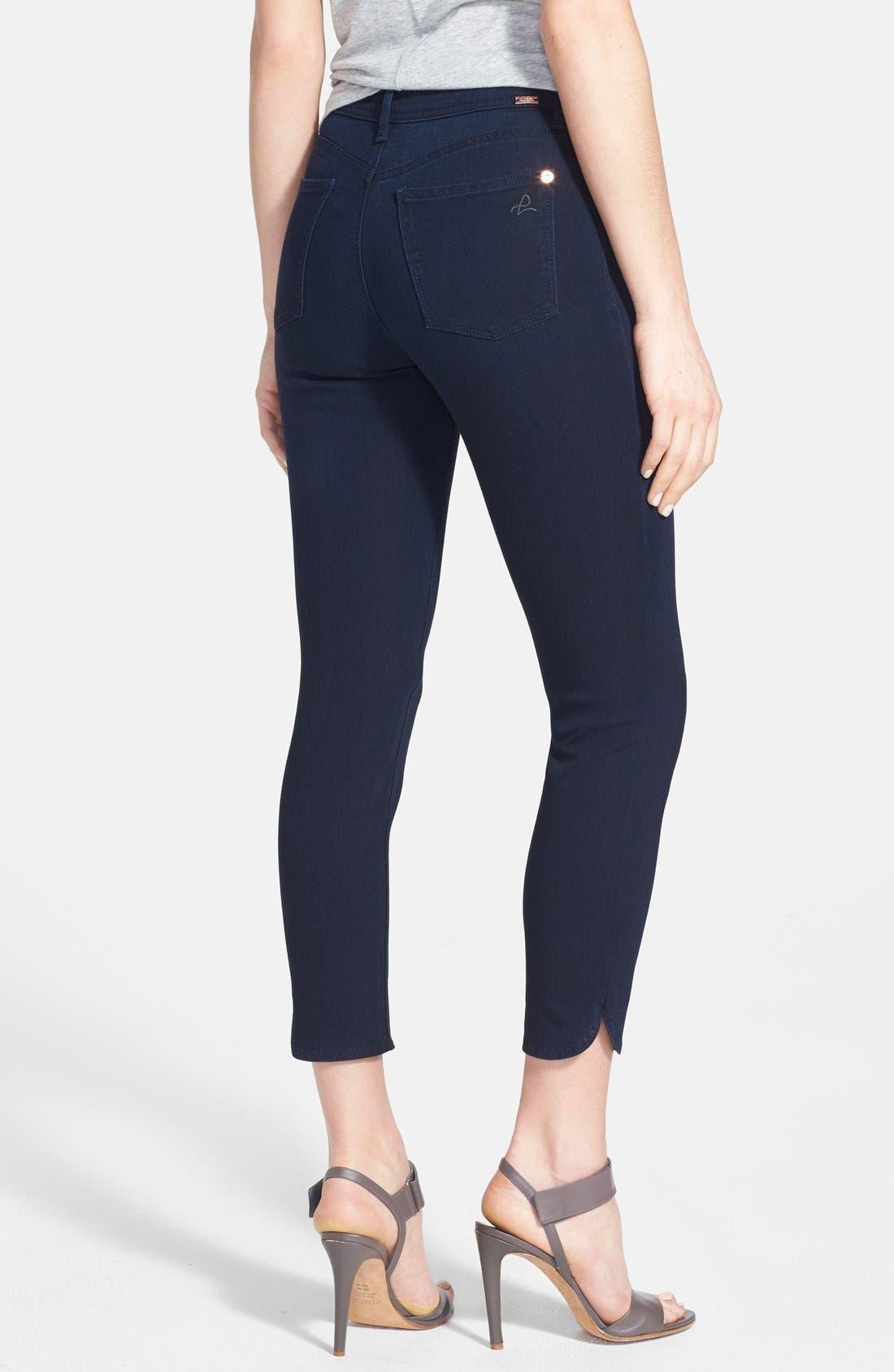 Alternate Image 2  - DL1961 'Bardot High Rise' Crop Jeans (Flat Iron)