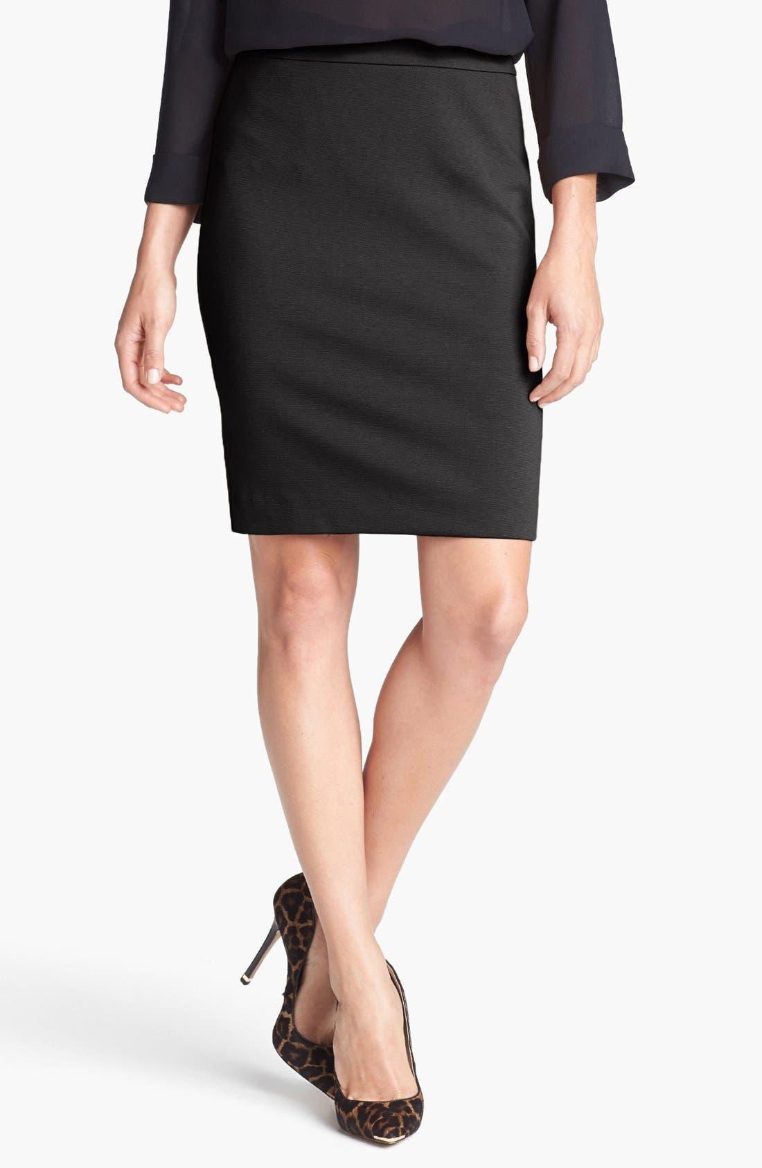 Alternate Image 1 Selected - Halogen® Ponte Pencil Skirt (Petite)