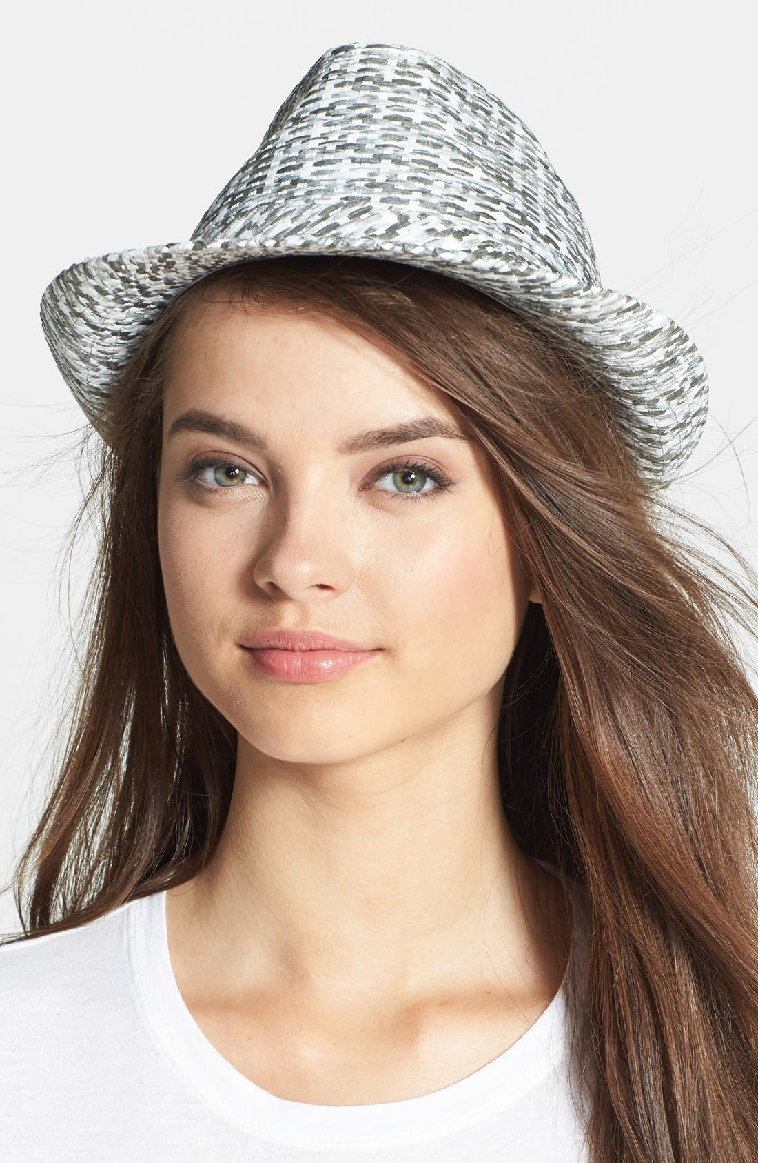 Alternate Image 1 Selected - Steve Madden 'Wicker' Woven Fedora