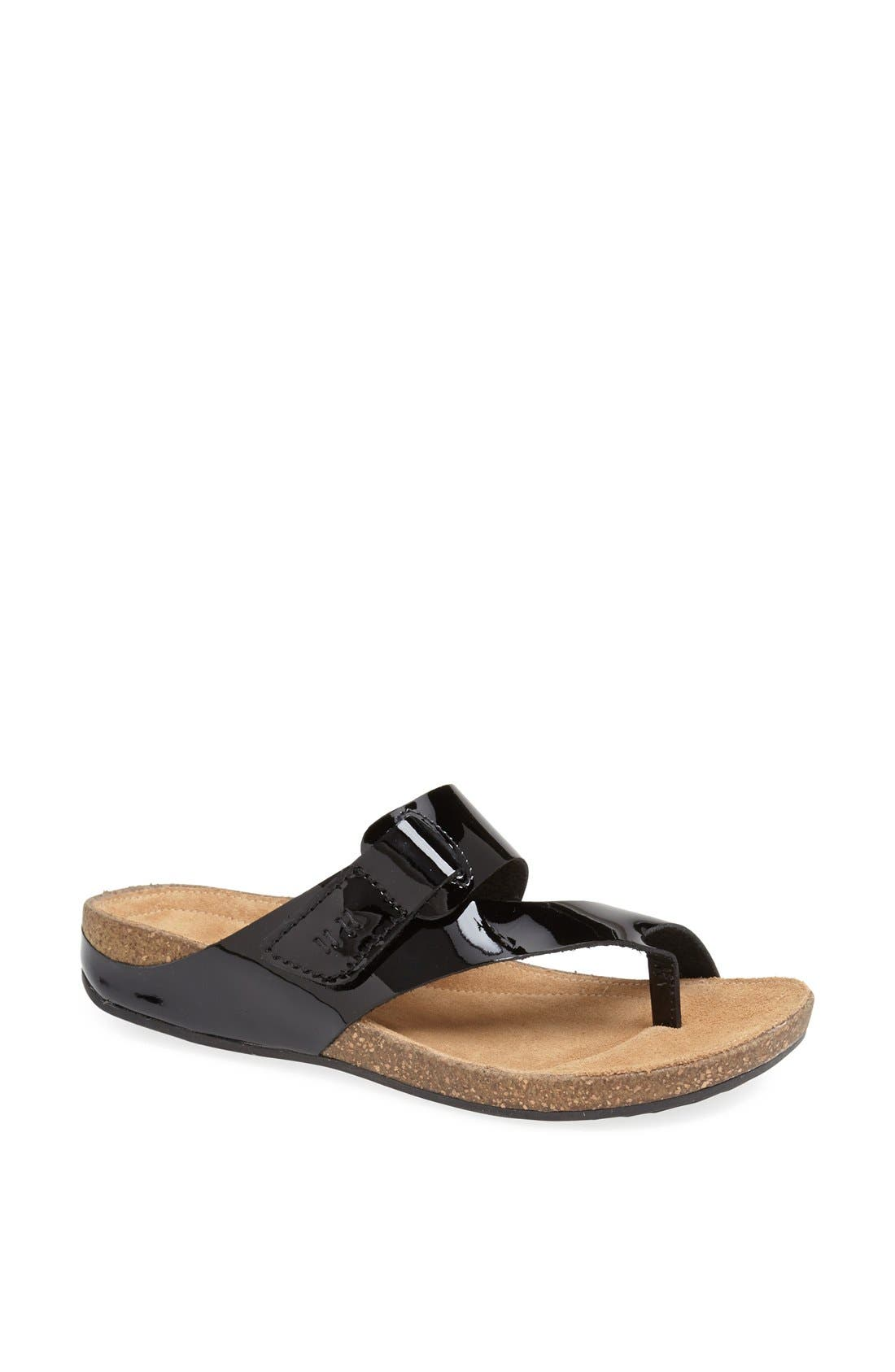 Clarks® 'Perri Coast' Leather Thong Sandal