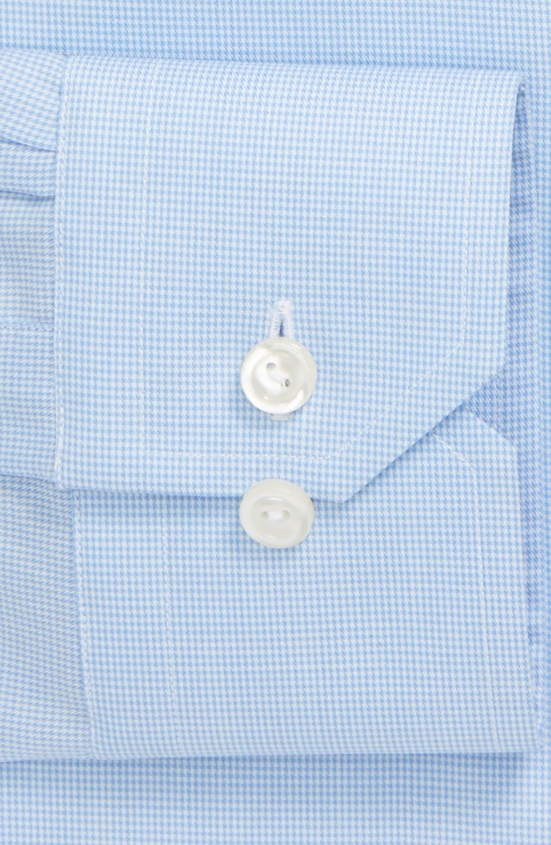 Contemporary Fit Houndstooth Dress Shirt,                             Alternate thumbnail 3, color,                             Blue