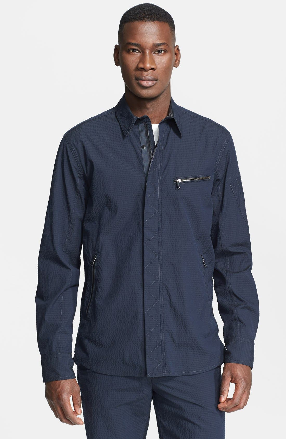 Main Image - rag & bone 'Hendon' Seersucker Shirt Jacket