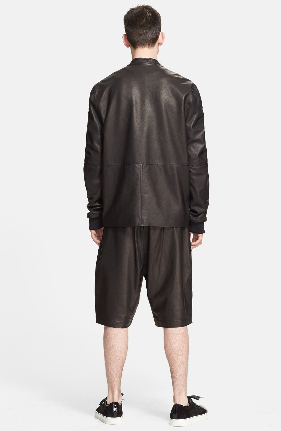 Alternate Image 2  - T by Alexander Wang Leather Bomber Jacket
