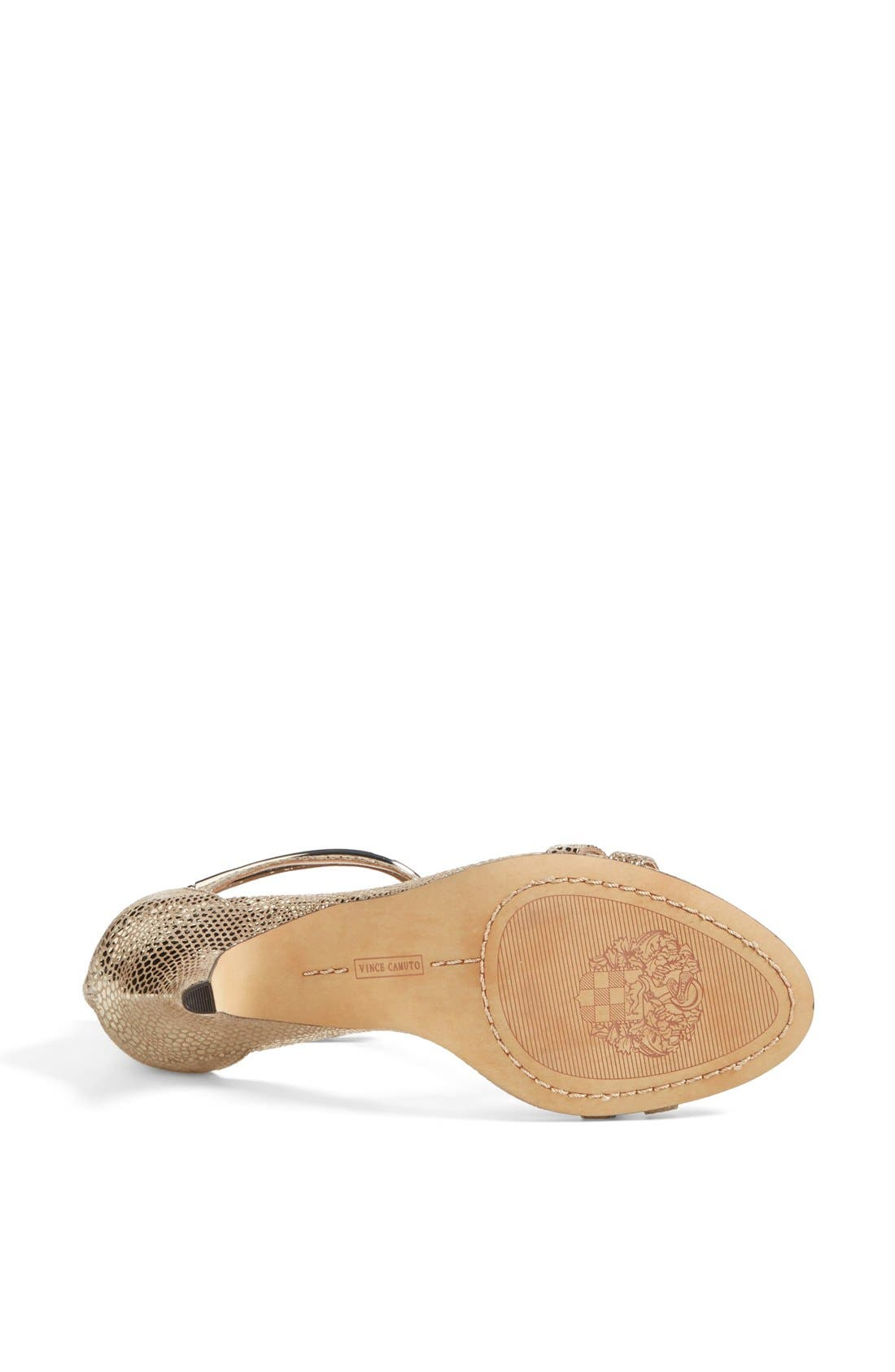 Alternate Image 4  - Vince Camuto 'Mitzy' Metallic T-Strap Sandal (Women)