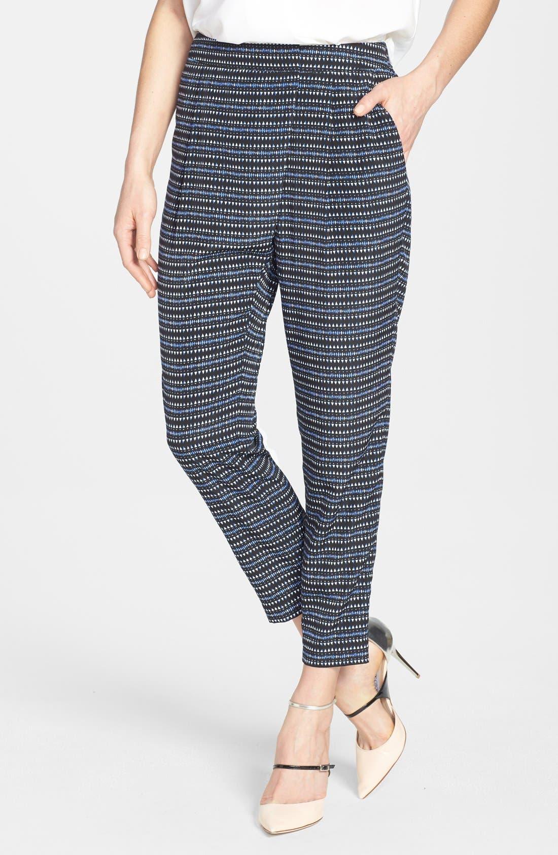 Alternate Image 1 Selected - Chelsea28 Print Wrap Detail Pants