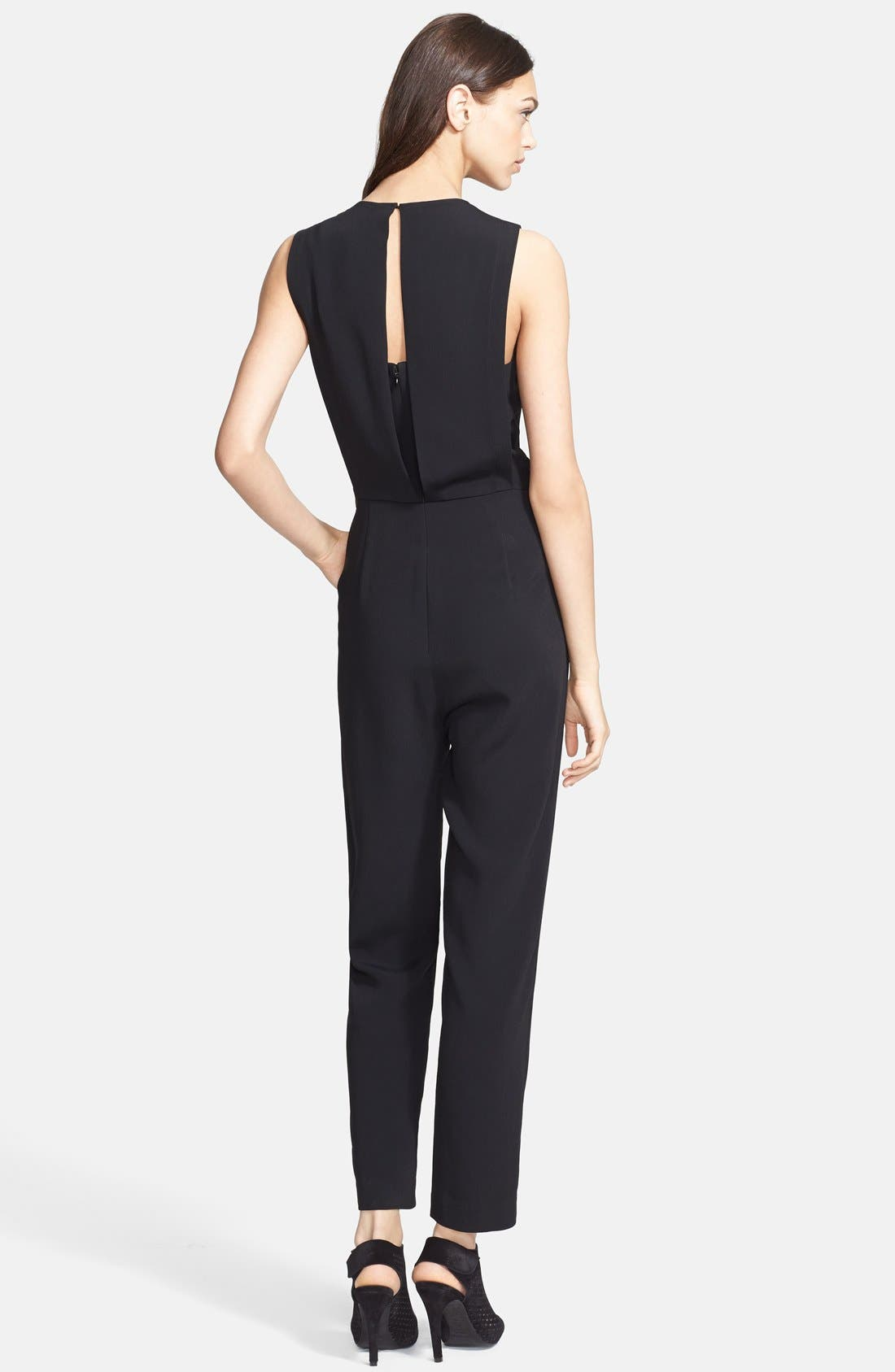 Alternate Image 2  - Theory 'Remaline' Stretch Crepe Jumpsuit
