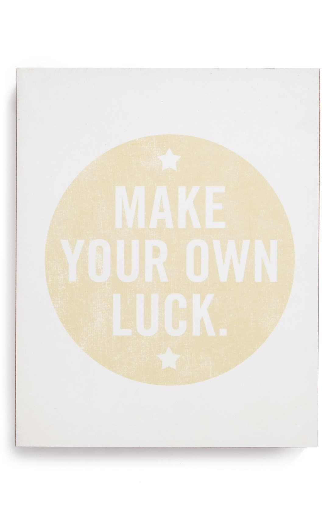 Main Image - Lucius Designs 'Make Your Own Luck' Wall Art