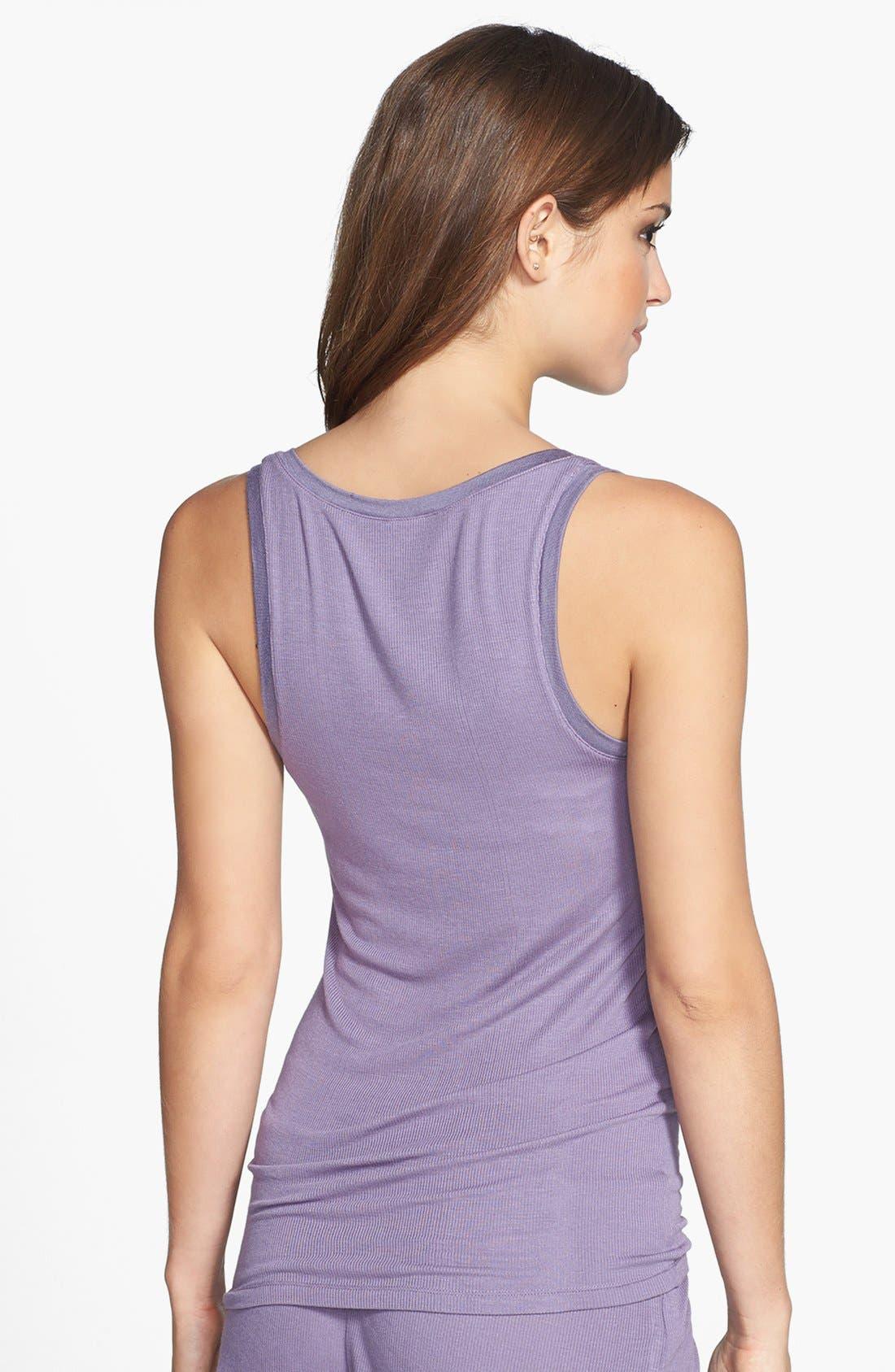Alternate Image 2  - Calvin Klein V-Neck Modal Blend Pajama Tank