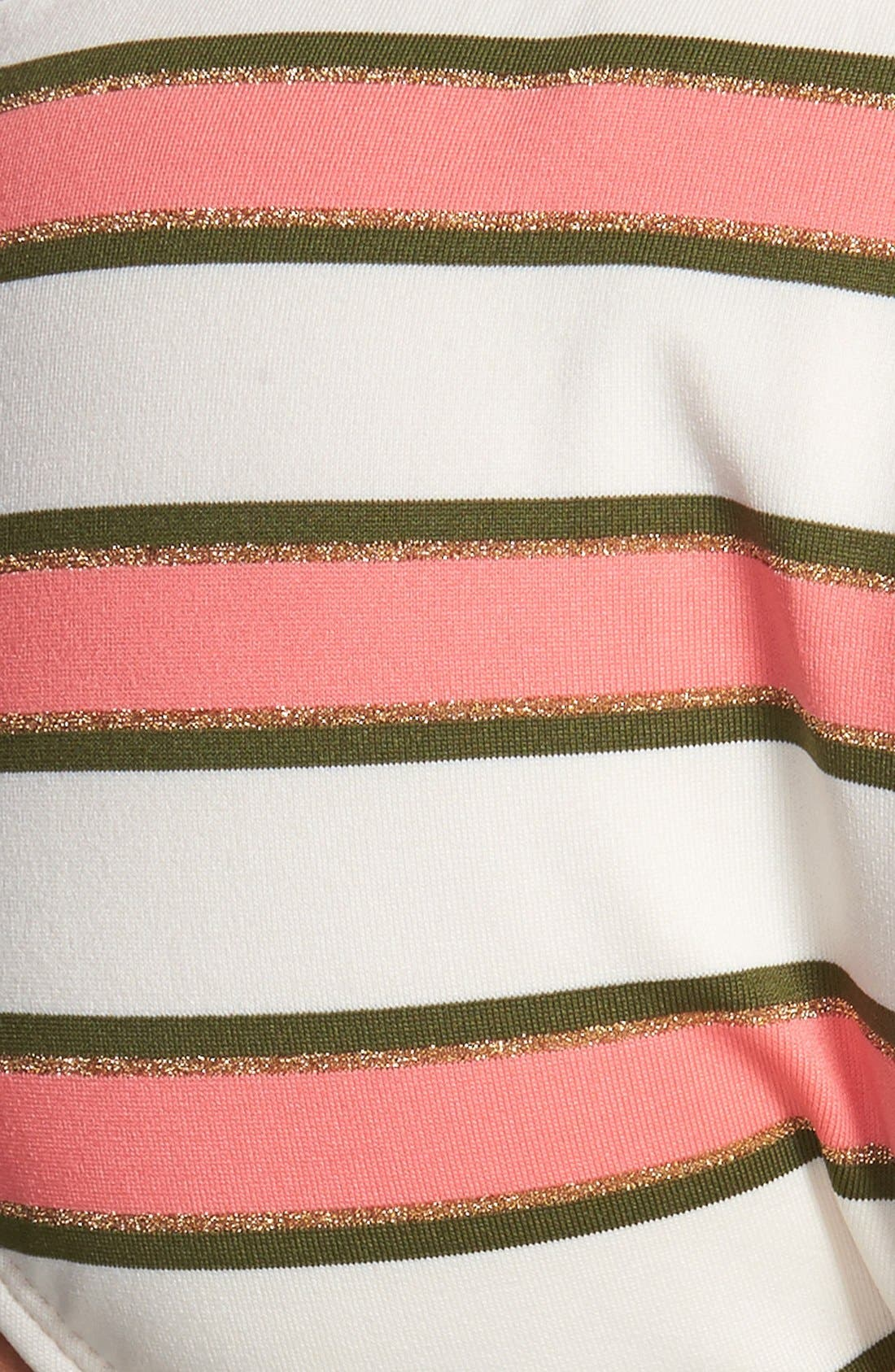 Alternate Image 5  - Sperry 'Earn Your Stripes' Metallic T-Back Halter Bikini Top