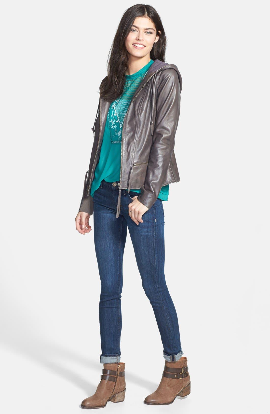 Alternate Image 6  - Franco Sarto 'Linden' Leather Bootie (Women) (Nordstrom Exclusive)
