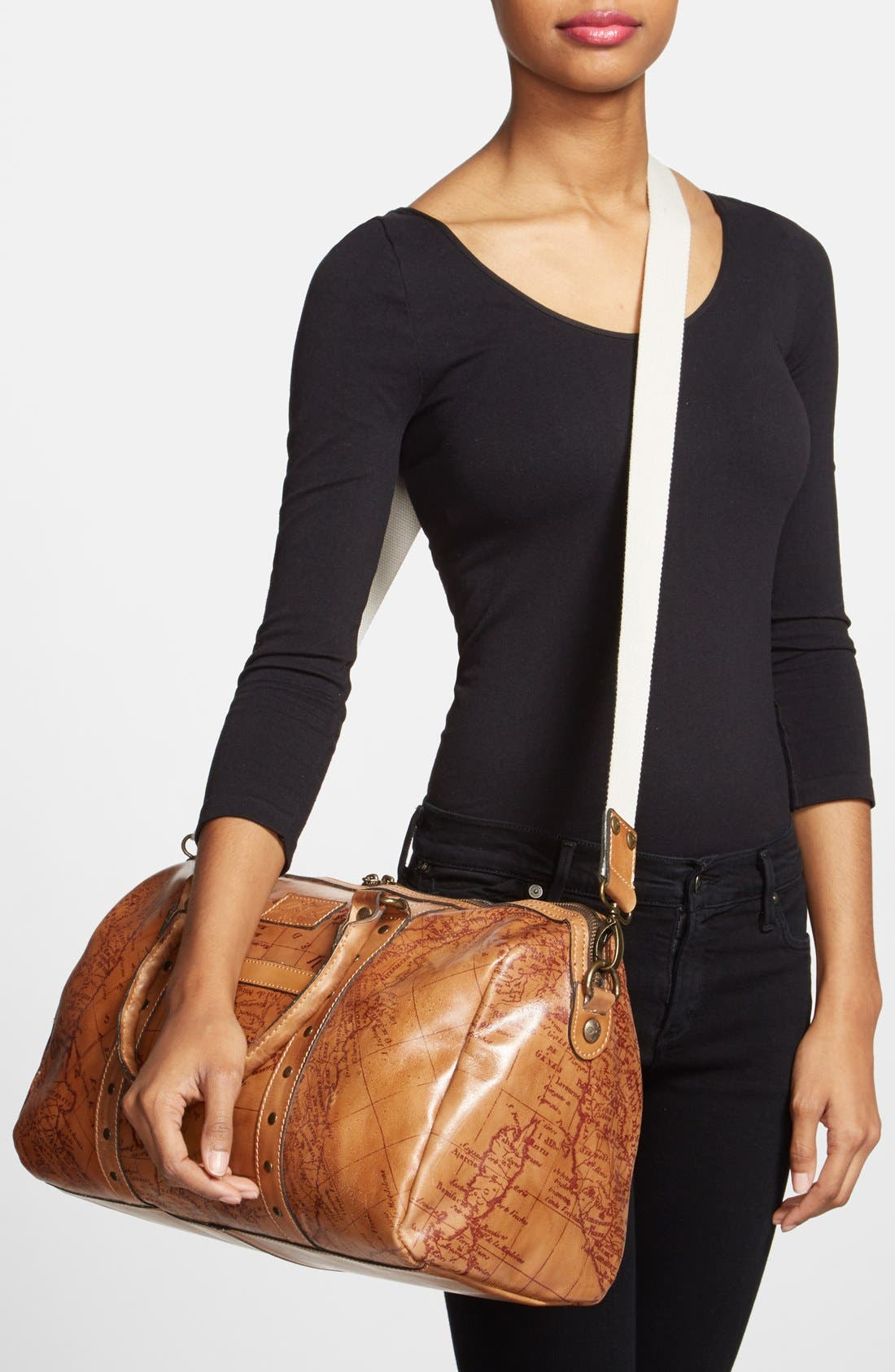 Alternate Image 2  - Patricia Nash 'Stressa' Leather Overnight Bag (16 Inch)