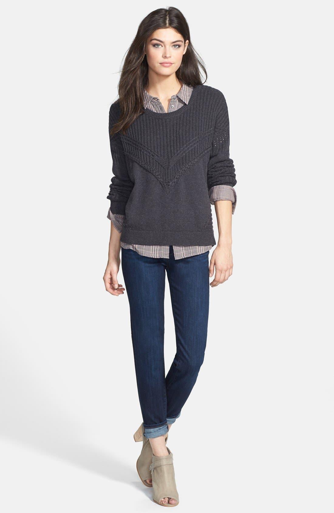 Alternate Image 5  - Paige Denim 'Skyline' Ankle Peg Skinny Jeans (Dixie) (Nordstrom Exclusive)