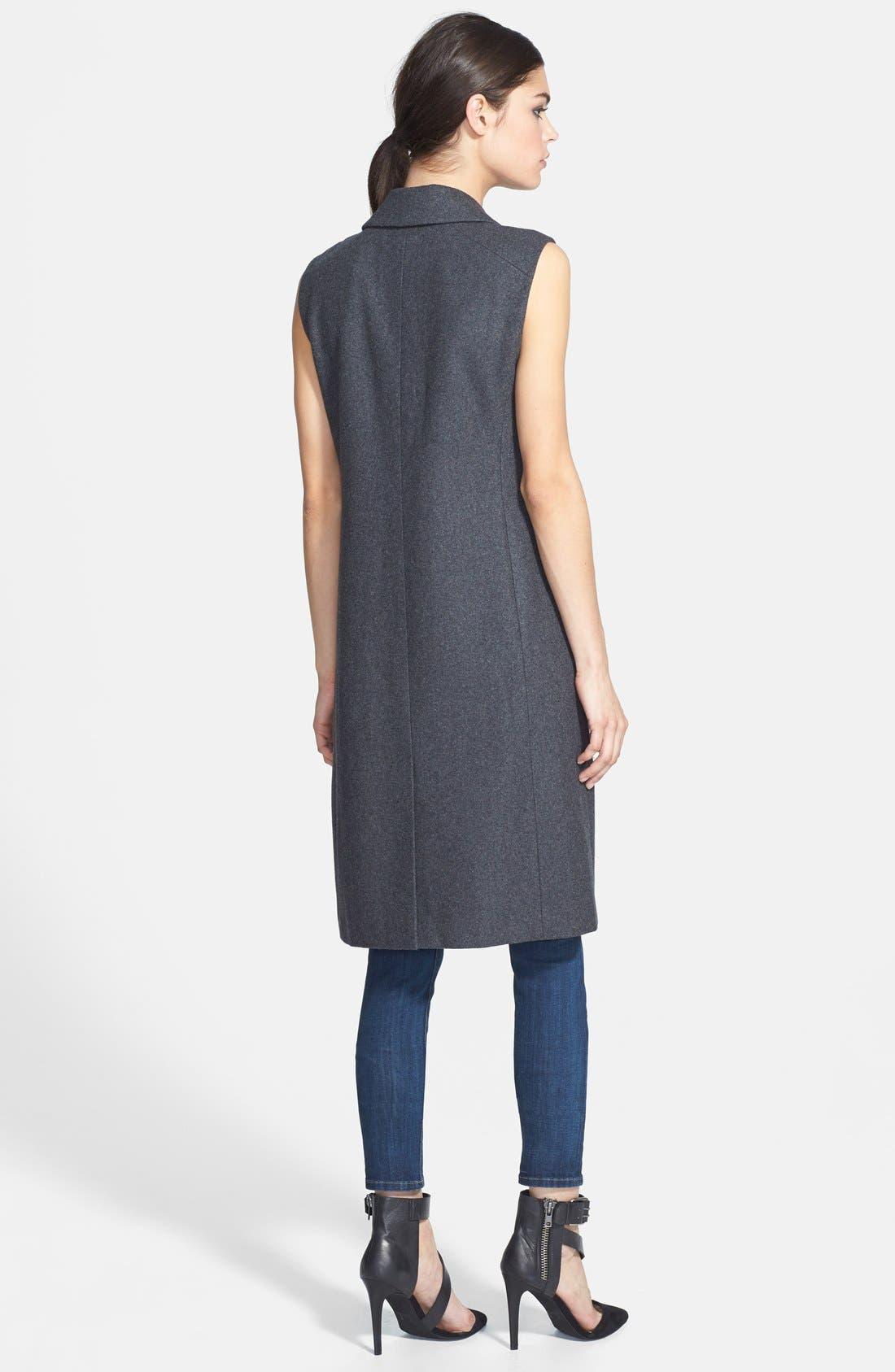 Alternate Image 2  - Trouvé Sleeveless Wool Blend Jacket