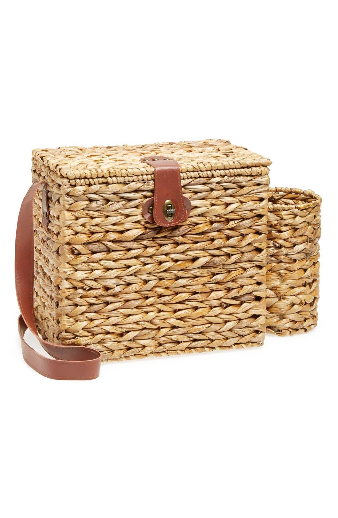 Alternate Image 2  - Sunnylife Wicker Picnic Basket
