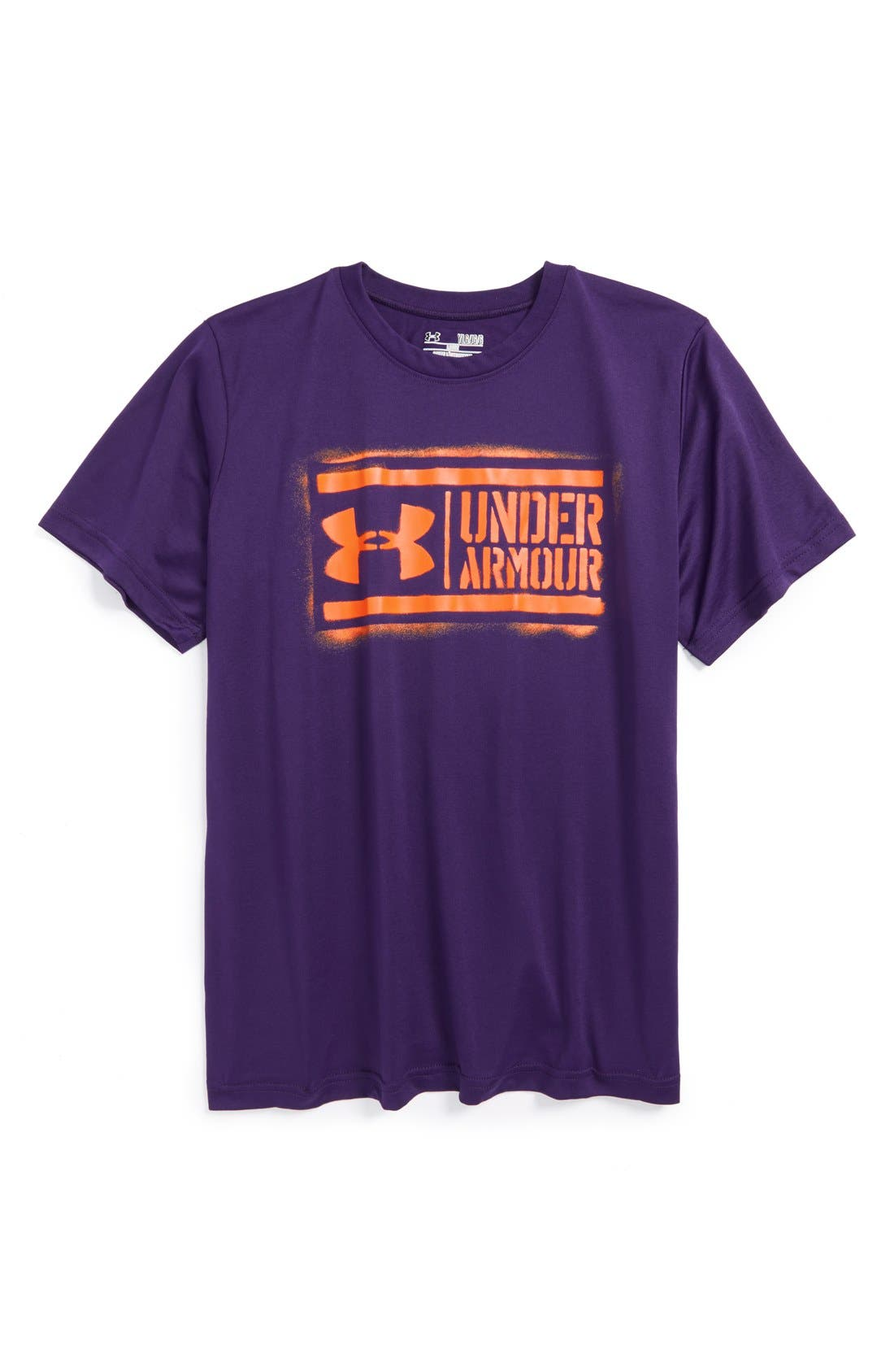 Alternate Image 1 Selected - Under Armour 'UA Lockup' HeatGear® T-Shirt (Big Boys)