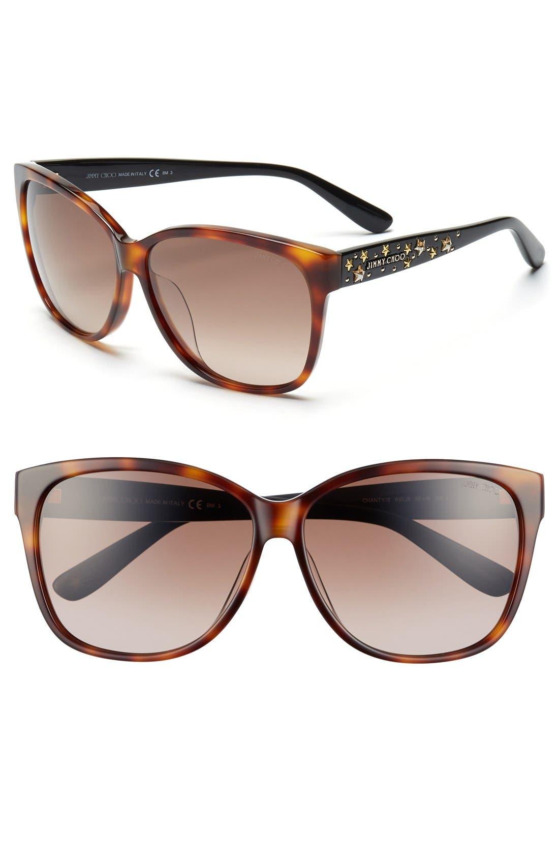 Main Image - Jimmy Choo 'Chantys' 58mm Sunglasses
