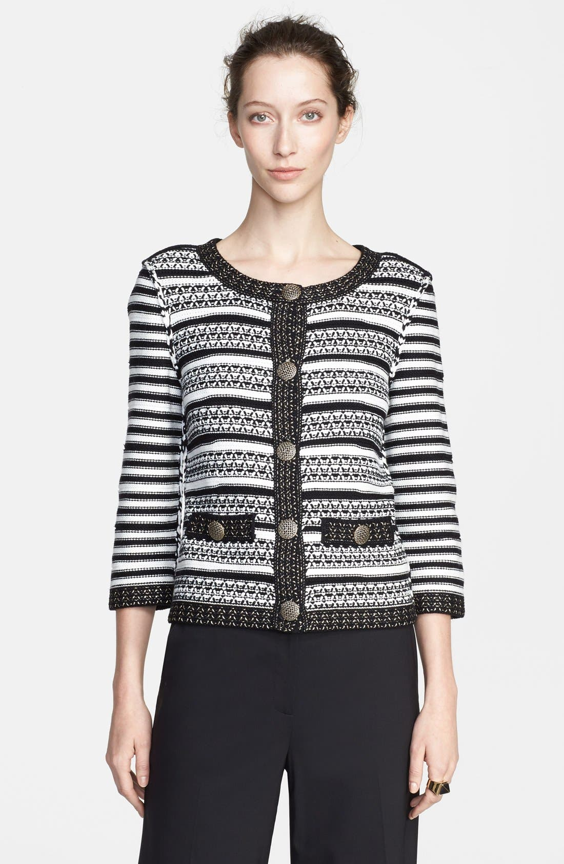 Main Image - St. John Collection Stripe Knit Jacket