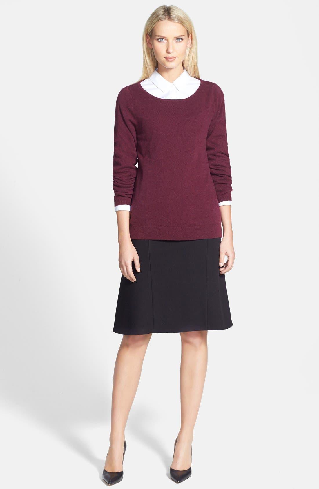 Alternate Image 4  - Nordstrom Collection Ballet Neck Cashmere Sweater