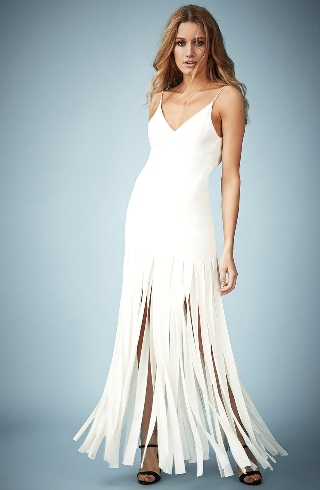 Main Image - Kate Moss for Topshop Splice Skirt Maxi Dress (Online Only)