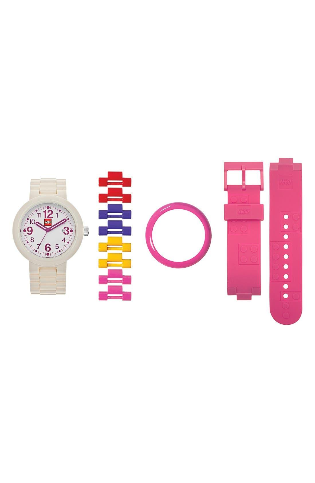 Alternate Image 4  - LEGO® 'Silhouette' Bracelet Watch, 42mm