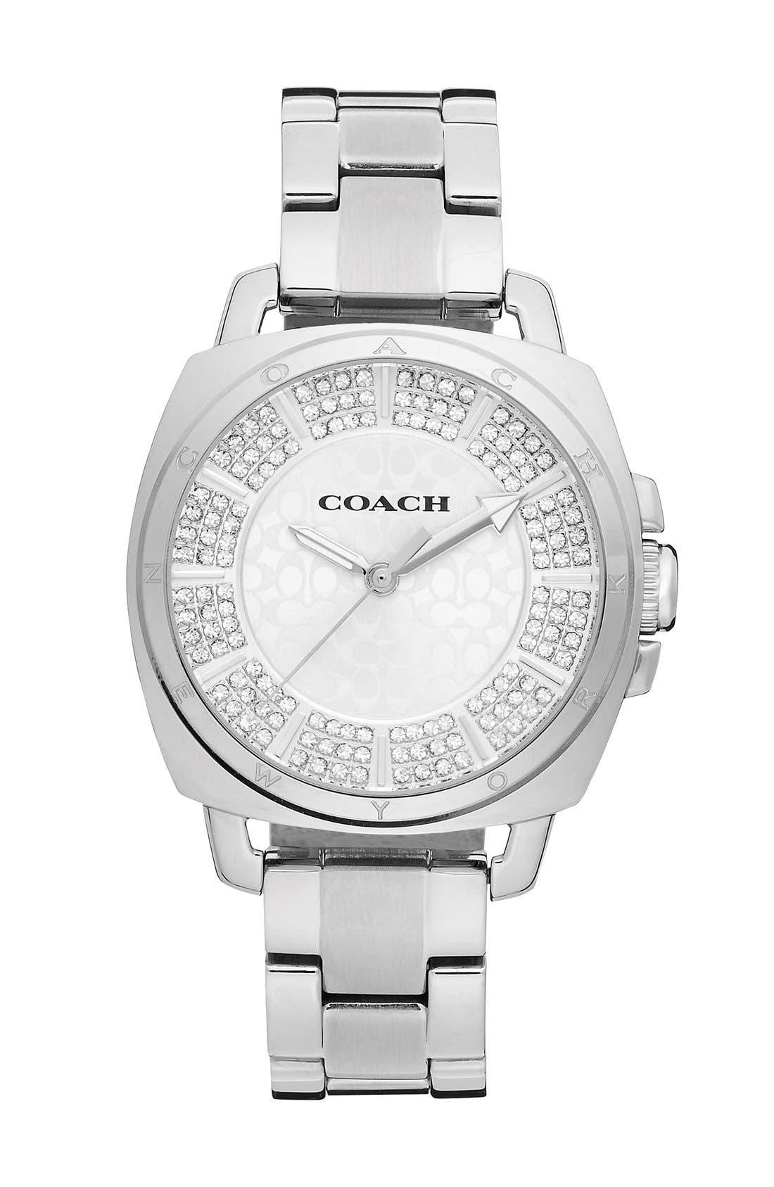Alternate Image 1 Selected - COACH 'Boyfriend' Pavé Dial Bracelet Watch, 34mm