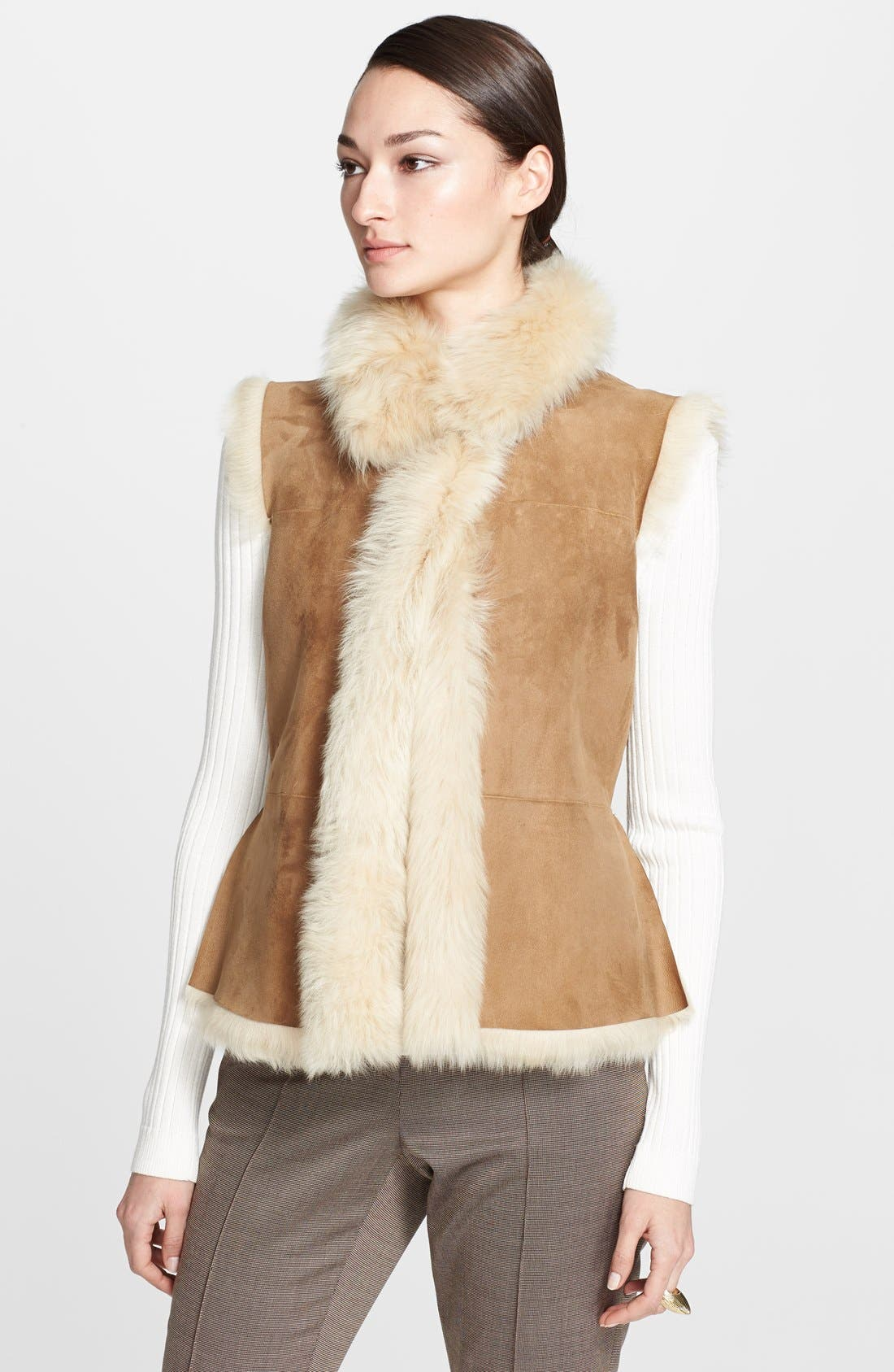 Alternate Image 1 Selected - St. John Collection Genuine Shearling Vest