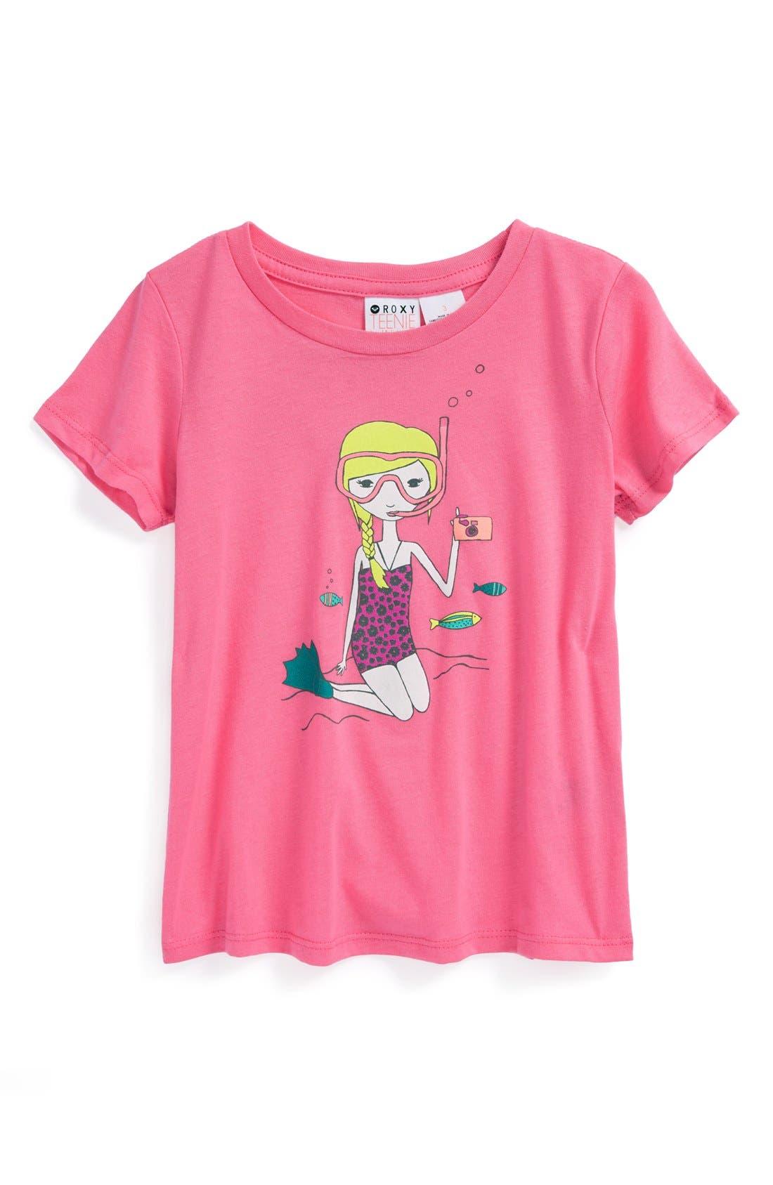 Main Image - Roxy 'Snorkel Girl' Tee (Toddler Girls)