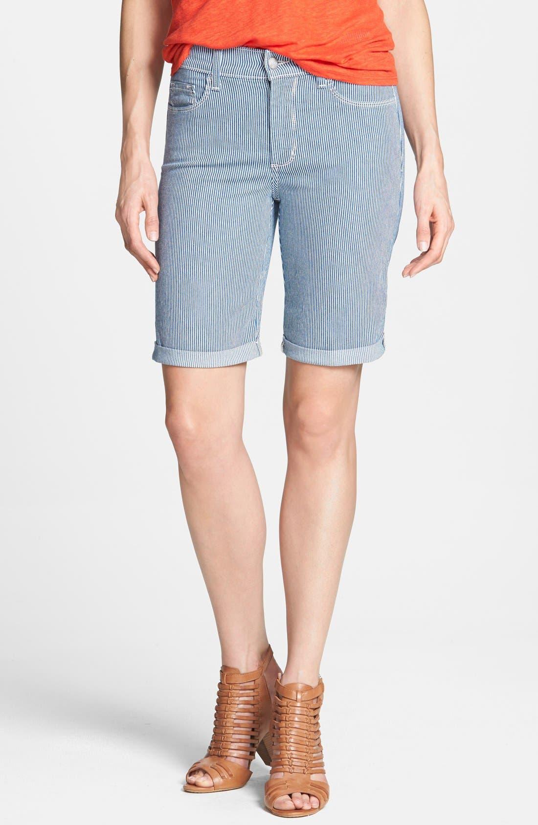 Alternate Image 1 Selected - NYDJ 'Brianna' Stretch Denim Bermuda Shorts