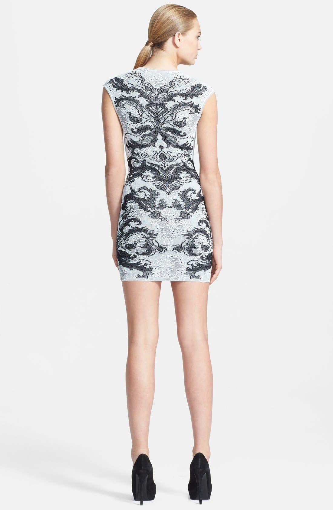 Alternate Image 2  - Alexander McQueen Jacquard Knit Body-Con Dress