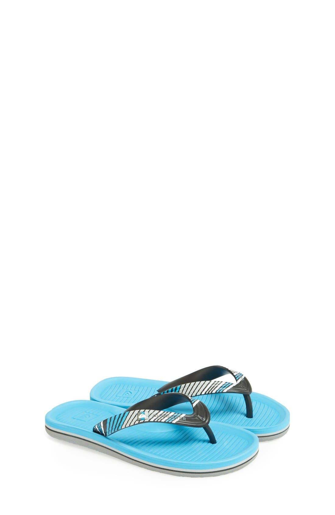 Main Image - Quiksilver 'Haleiwa' Flip Flop (Toddler, Little Kid & Big Kid)