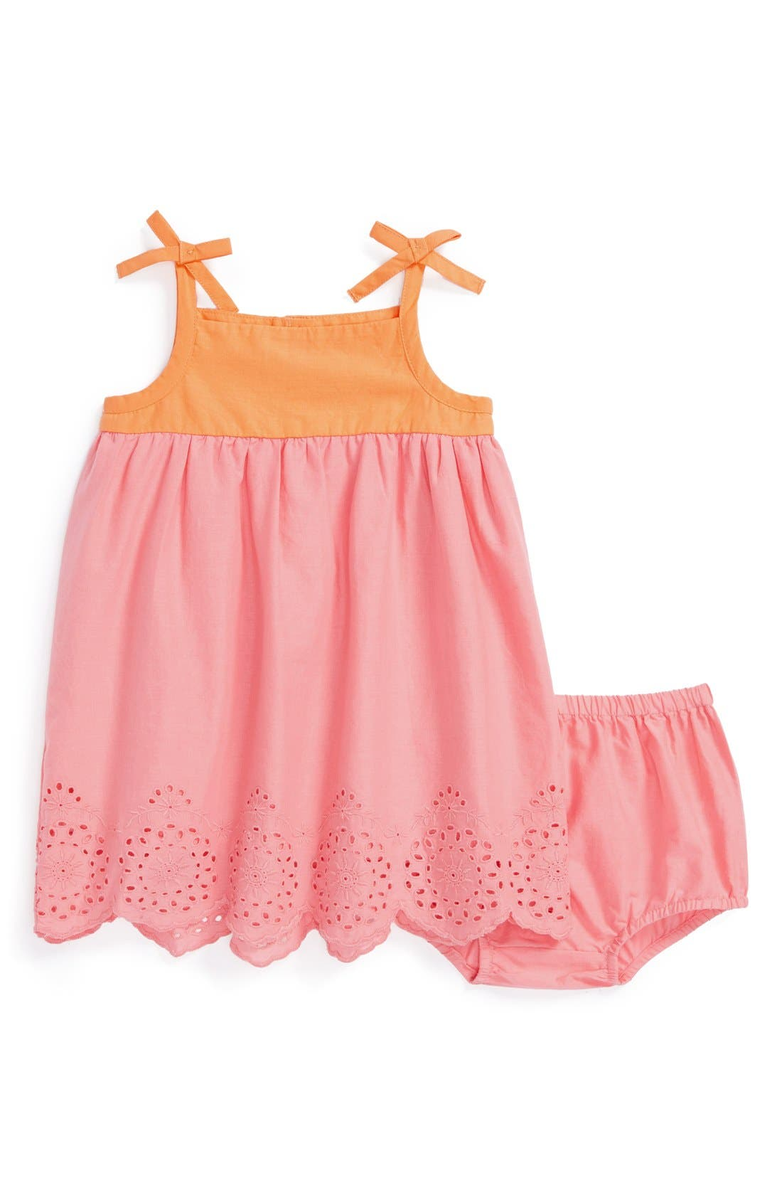 Alternate Image 1 Selected - Tucker + Tate Sleeveless Sundress & Bloomers (Baby Girls)