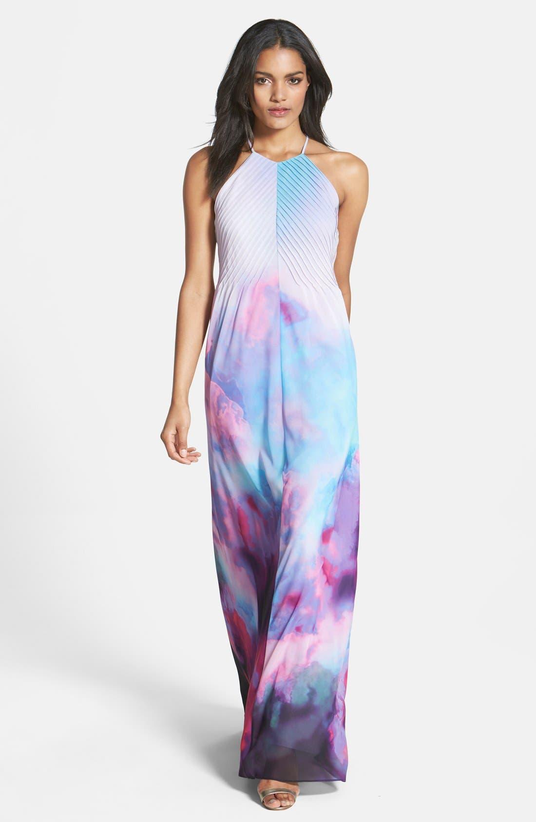 Alternate Image 1 Selected - Ted Baker London 'Summer at Dusk' Print Maxi Dress