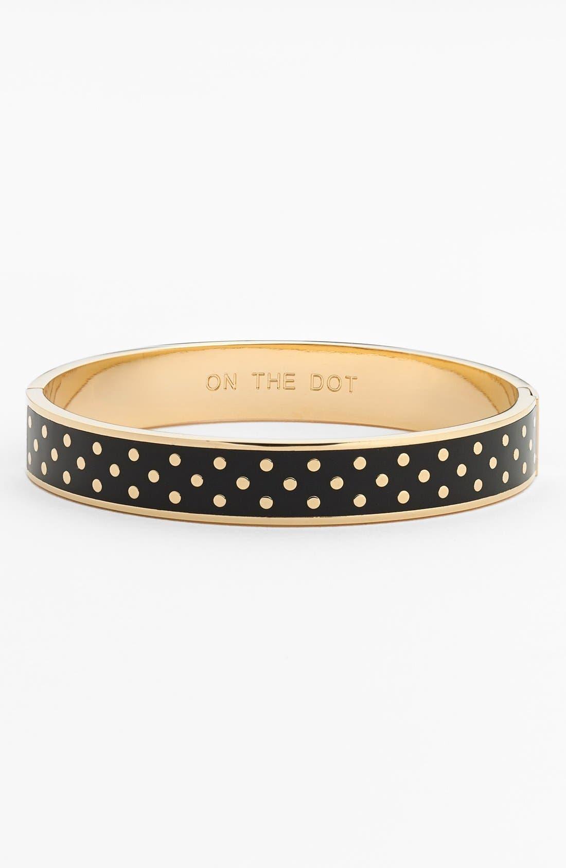 Alternate Image 1 Selected - kate spade new york 'on the dot' hinge idiom bracelet