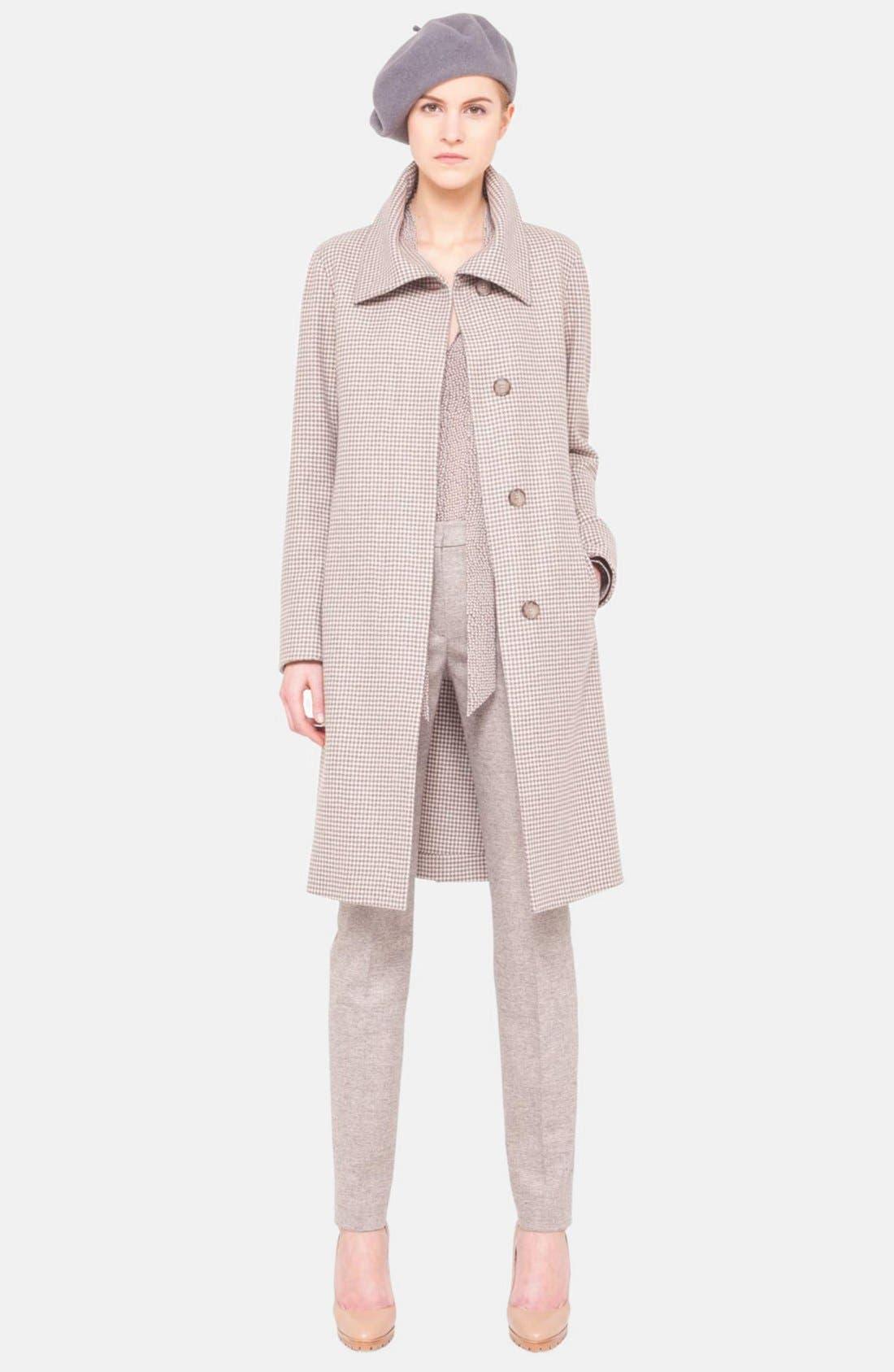 Main Image - Akris 'Oldbury' Flannel Houndstooth Coat