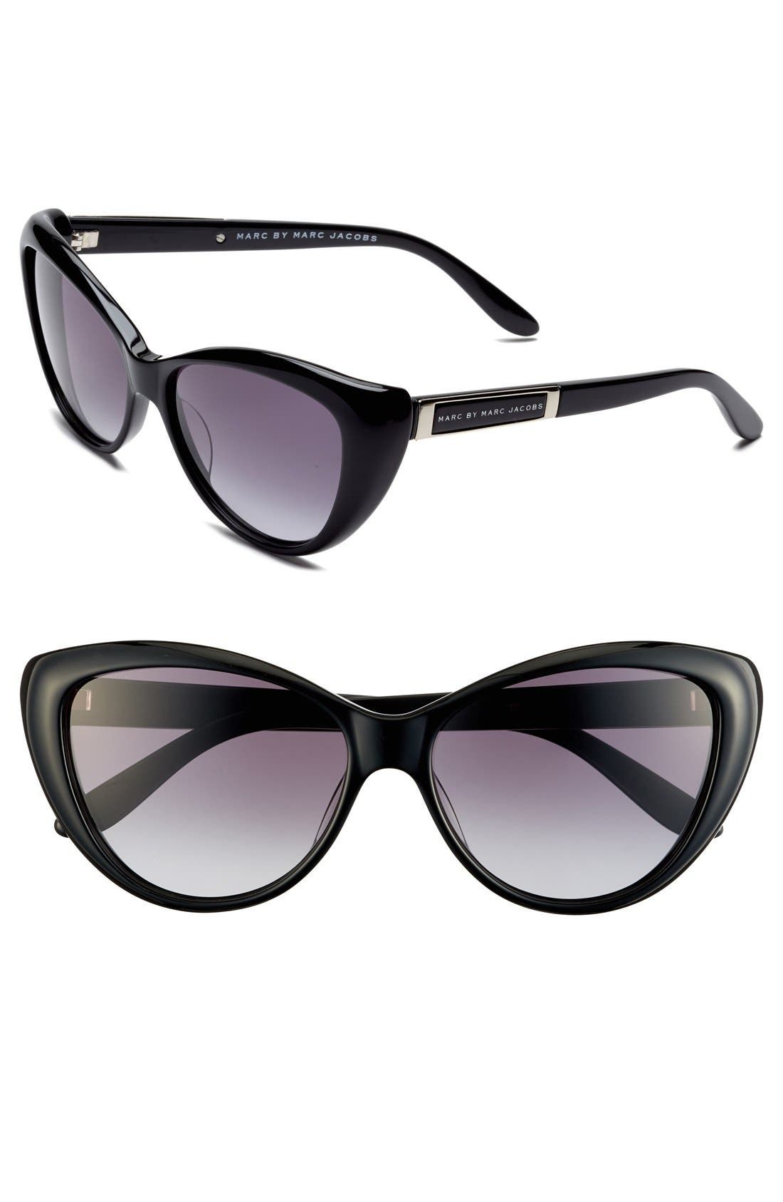 Main Image - MARC BY MARC JACOBS 56mm Cat Eye Sunglasses