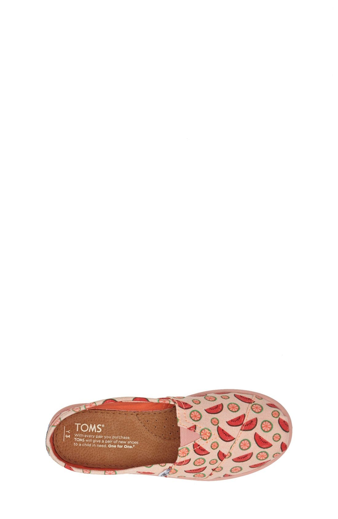 Alternate Image 3  - TOMS 'Classic Youth - Watermelon' Slip-On (Toddler, Little Kid & Big Kid)