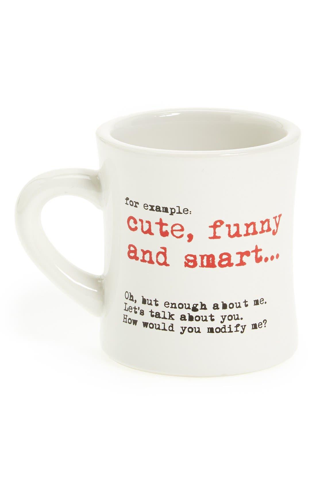 Alternate Image 1 Selected - GrammarRULES! 'Cute, Funny & Smart' Mug