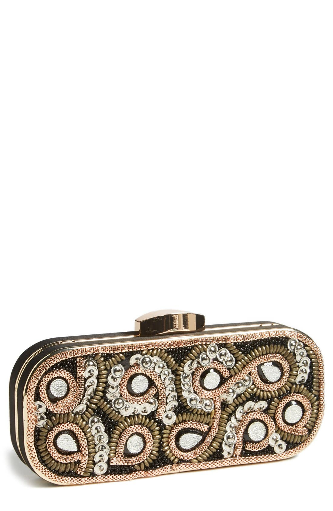 Alternate Image 1 Selected - Natasha Couture Chain Swirl Clutch