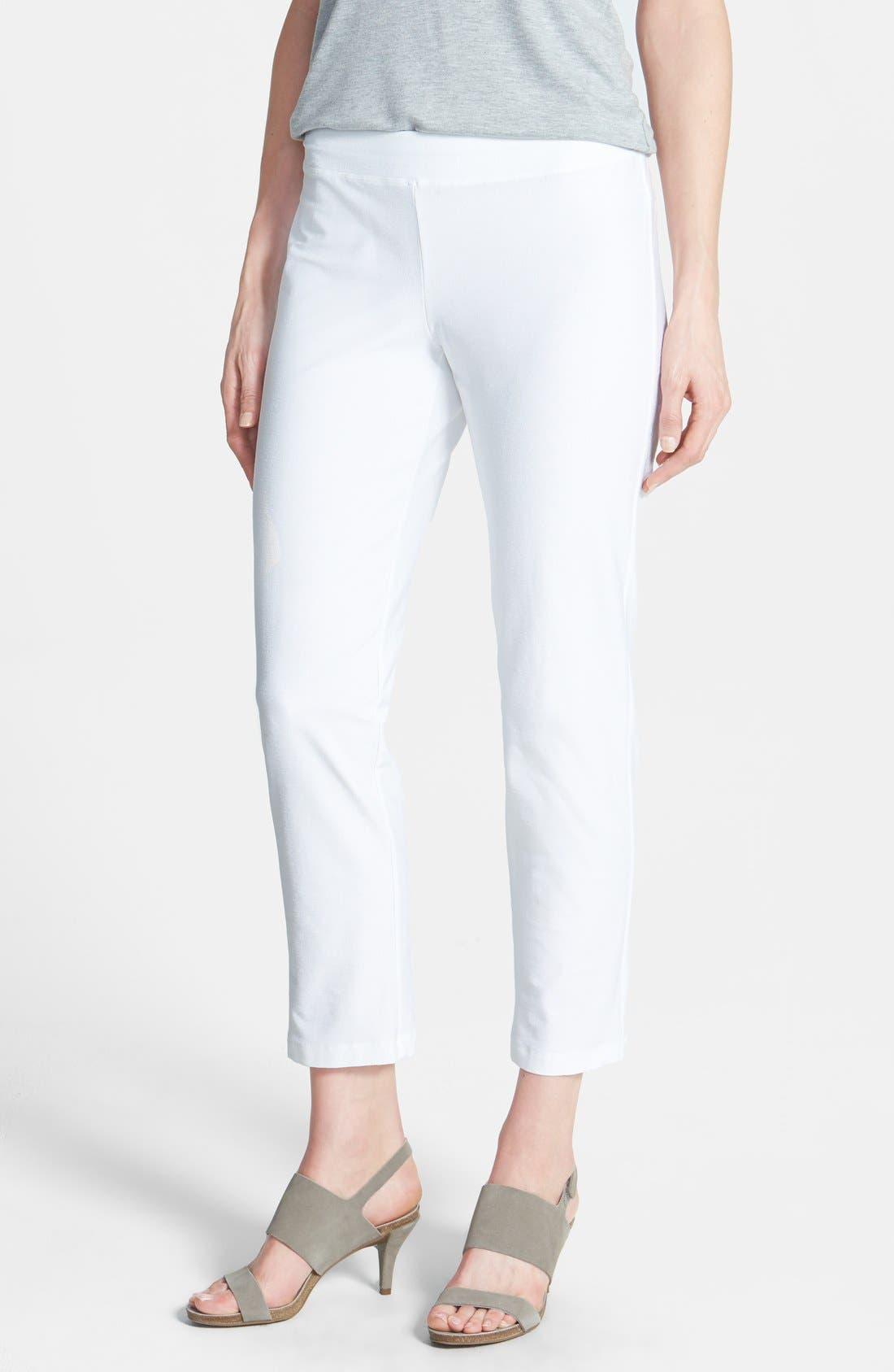 Alternate Image 1 Selected - Eileen Fisher Slim Ankle Pants (Regular & Petite)