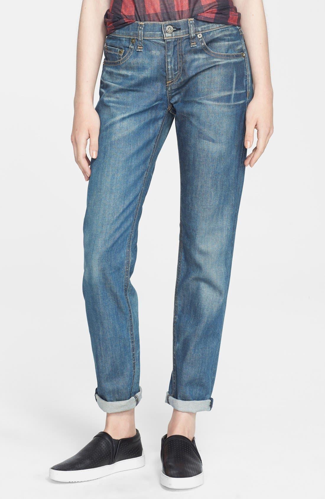 Main Image - rag & bone/JEAN 'Dre' Boyfriend Skinny Jeans (Cannon)